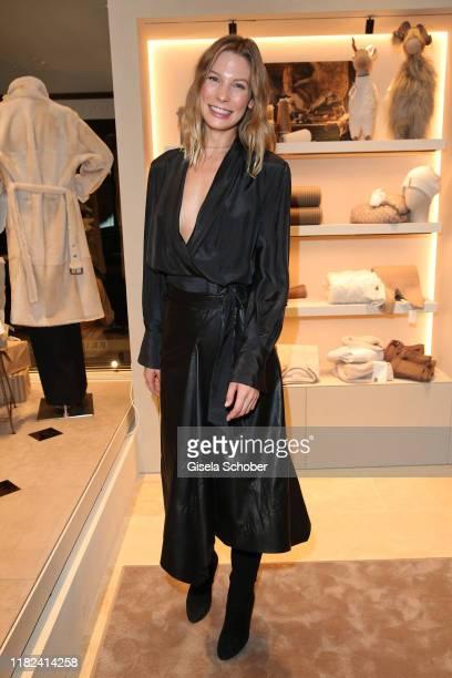 Model Sarah Brandner during the Brunello Cucinelli women store opening on November 14, 2019 in Munich, Germany.