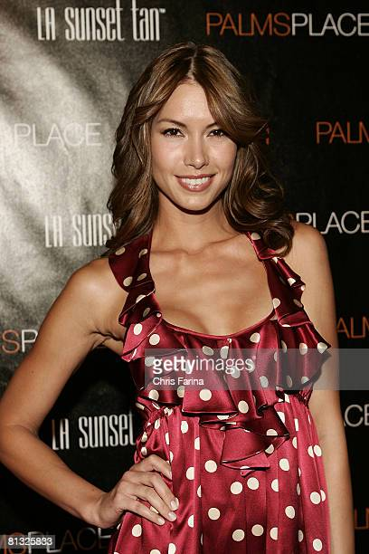 Model Sarah Larson arrives at the grand opening of Palms Place Hotel & Spa, Palms Las Vegas on May 31, 2008 in Las Vegas, Nevada.
