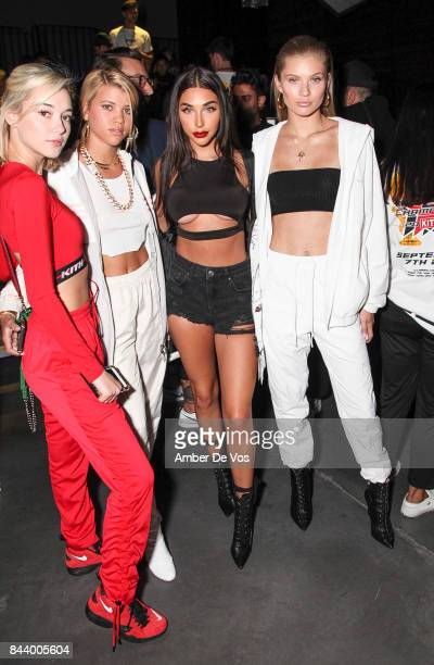 Model Sarah Snyder Model Sophia Richie Model Chantel Jeffries and Model Josie Canseco attends Kith Sport fashion show at Classic Car Club on...