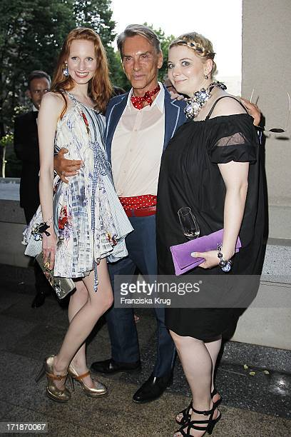 Model Sarah Sperling And designer Wolfgang Joop With Daughter At Florentine farewell party The Ambassador Of The Russian Federation In Russian Palais...