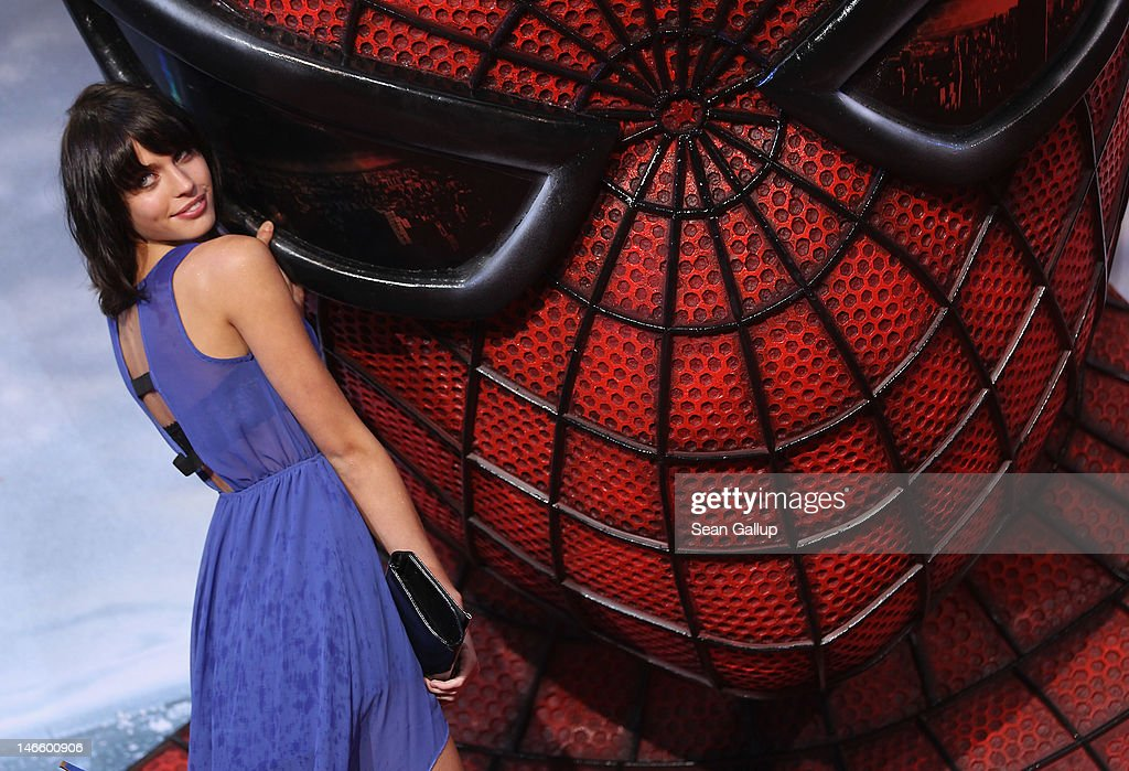 Model Sarah-Anessa Hitzschke attends the Germany premiere of 'The Amazing Spider-Man' at Sony Center on June 20, 2012 in Berlin, Germany.