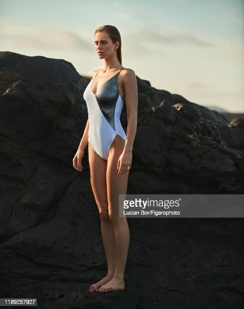 Model Sasha Gachulincova is photographed for Madame Figaro on November 29 2017 in Lanzarote Spain Beauty by Dior Swimsuit CREDIT MUST READ Lucian...