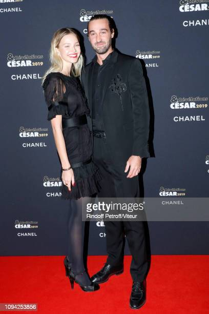 Model Sasha Luss and Jasper Pfrunder attend the 'Cesar Revelations 2019' at Le Petit Palais on January 14 2019 in Paris France