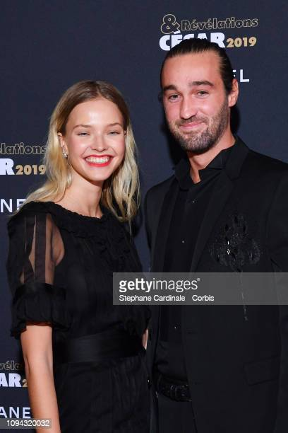 Model Sasha Luss and Jasper Pfrunder attend the 'CesarRevelations 2019' at Le Petit Palais on January 14 2019 in Paris France