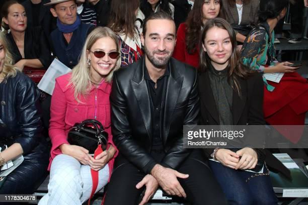 Model Sasha Luss Jasper Pfrunder and Princess Alexandra de Hanovre attend the Chanel Womenswear Spring/Summer 2020 show as part of Paris Fashion Week...