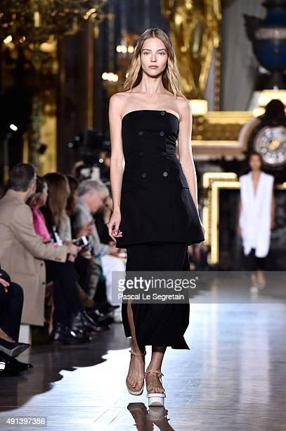 Model Sasha Luss walks the runway during the Stella McCartney show as part of the Paris Fashion Week Womenswear Spring/Summer 2016 on October 5 2015...