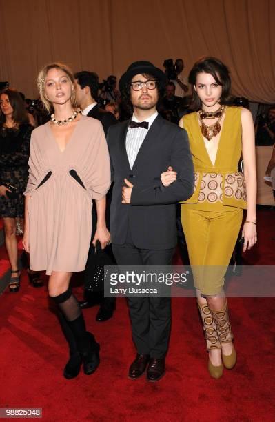 Model Sasha Pivovarova, musician Sean Lennon and Charlotte Kemp Muhl attend the Costume Institute Gala Benefit to celebrate the opening of the...