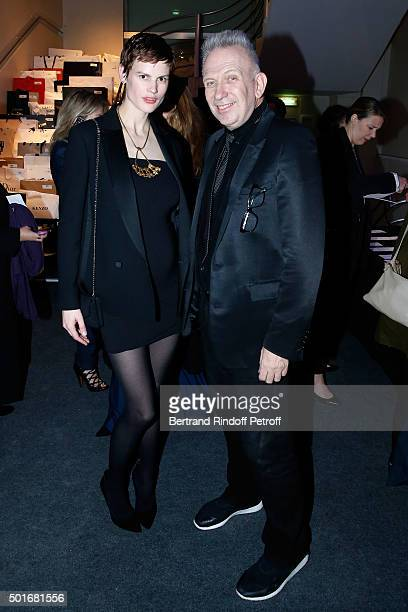 Model Saskia de Brauw and Fashion Designer JeanPaul Gaultier attend the Annual Charity Dinner hosted by the AEM Association Children of the World for...