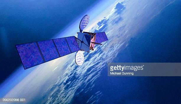 model satellite (digital composite) - 人工衛星 ストックフォトと画像