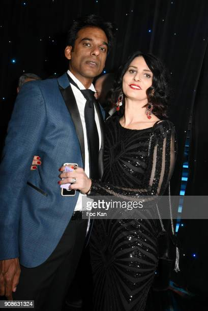 Model Satya Oblette and Sylvie Ortega Munos attend the Top Model Belgium Awards 2018 Ceremony at the Lido on January 21 2018 in Paris France