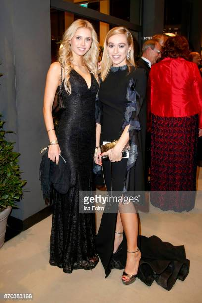 Model Scarlett Gartmann and blogger Sonia Lyson during the 24th Opera Gala at Deutsche Oper Berlin on November 4 2017 in Berlin Germany