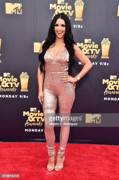 Model Scheana Marie attends the 2018 MTV Movie And TV Awards at Barker Hangar on June 16 2018 in Santa Monica California