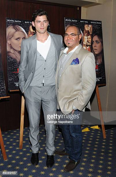Model Sean O'Pry and sylist Nole Marin attend the 'Homecoming' premiere at the MGM Screening Room July 16 2009 in New York City