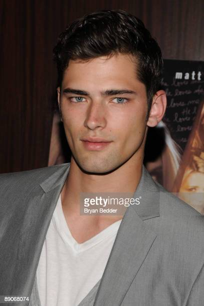 Model Sean O'Pry attends the 'Homecoming' premiere at the MGM Screening Room on July 16 2009 in New York City