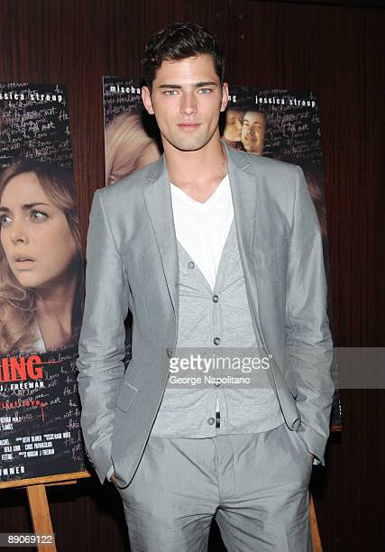 Model Sean O'Pry attends the 'Homecoming' premiere at the MGM Screening Room July 16 2009 in New York City
