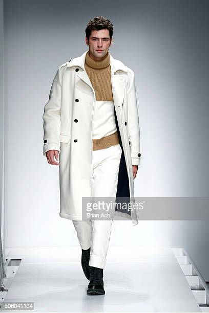 Model Sean O'Pry walks the runway at the Nautica Men's Fall 2016 fashion show during New York Fashion Week Men's Fall/Winter 2016 at Skylight Modern...