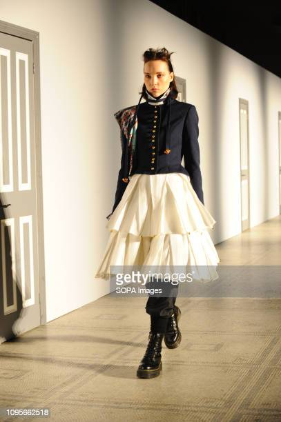 A model seen walking on the runway during the Fashion In Motion show inspired by Christian Dior Designer of Dreams Several models will showcase a...