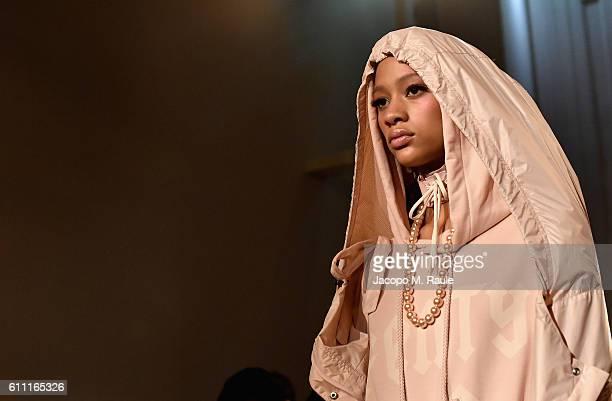 Model Selena Forrest walks the runway during FENTY x PUMA by Rihanna at Hotel Salomon de Rothschild on September 28 2016 in Paris France