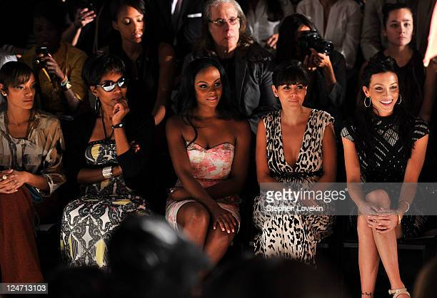 Model Selita Ebanks actress Angela Bassett actress Tika Sumpter actress JamieLynn Sigler and actress Katie Cassidy attend the Tracy Reese Spring 2012...