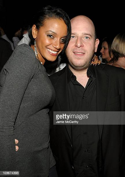 Model Selita Ebanks and Noah Tepperberg attend the TAO and LAVO anniversary weekend held at LAVO in the Palazzo hotel on October 2 2009 in Las Vegas...