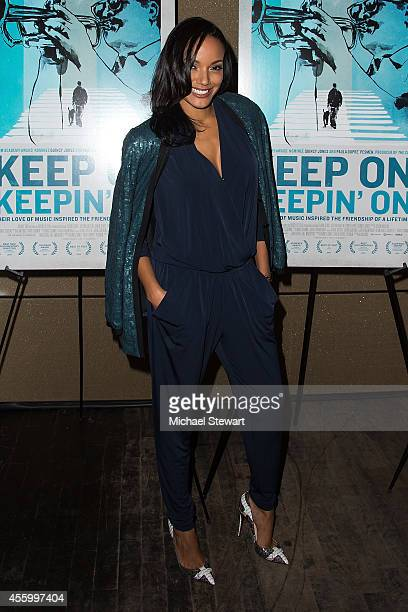 Model Selita Ebanks attends 'Keep On Keepin On' screening at Tribeca Grand Hotel on September 23 2014 in New York City