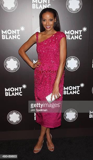 Model Selita Ebanks attends the 23rd Annual Montblanc De La Culture Arts Patronage Award Honoring Jane Rosenthal at Stephan Weiss Studio on June 3...