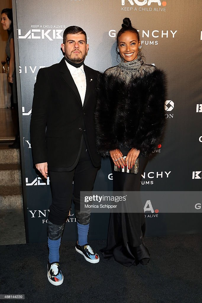 Model Selita Ebanks (R) attends the 9th annual Keep A Child Alive Black Ball at Hammerstein Ballroom on October 30, 2014 in New York City.