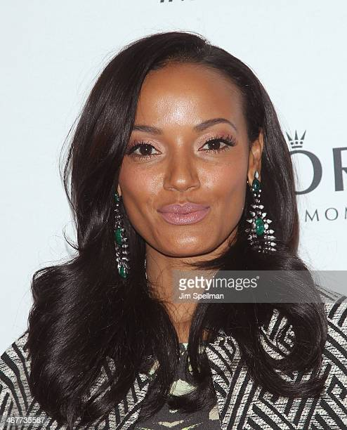 Model Selita Ebanks attends The Daily Modelinia Present The Models Issue Party at Harlow on February 7 2014 in New York City