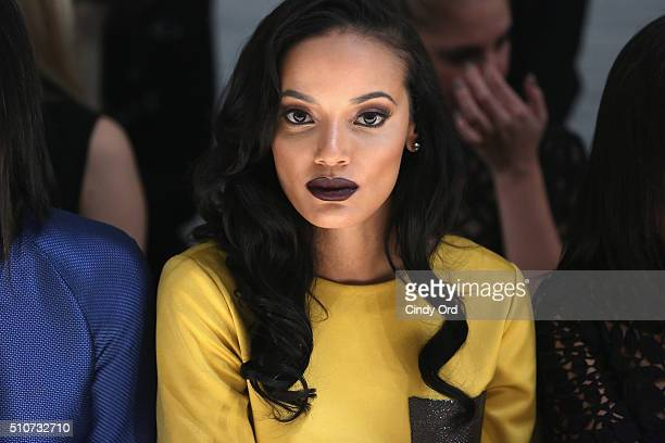 Model Selita Ebanks attends the Georgine Fall 2016 fashion show during New York Fashion Week The Shows at The Gallery Skylight at Clarkson Sq on...