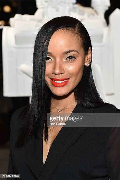 Model Selita Ebanks attends the Jeff Koons x Google launch on May 09 2016 in New York New York