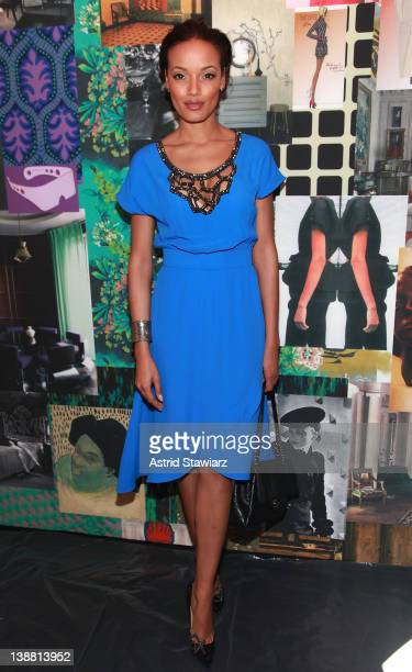 Model Selita Ebanks attends the Tracy Reese Fall 2012 fashion show for TRESemme during Mercedes-Benz Fashion Week at Lincoln Center on February 12,...