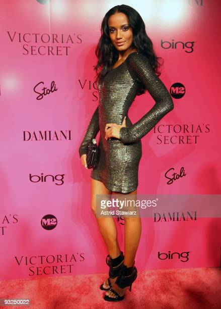 Model Selita Ebanks attends the Victoria's Secret fashion show after party at M2 Ultra Lounge on November 19 2009 in New York City