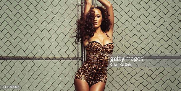 Model Selita Ebanks is photographed for Vibe Magazine on January 10 2011 in New York City