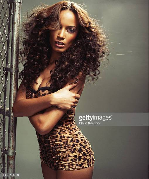 Model Selita Ebanks is photographed for Vibe Magazine on January 10 2011 in New York City Published Image
