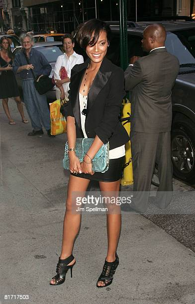 Model Selita Eubanks attends The Cinema Society and Sony Cierge screening of The Wackness on June 25 2008 at AMC Loews 19th Street in New York