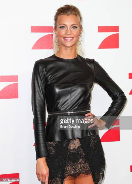 Model Serlina Hohmann a Top 8 finalist from Germany's Next Top Model arrives at the premiere of the television show 'This Is Us Das ist Leben' at Zoo...