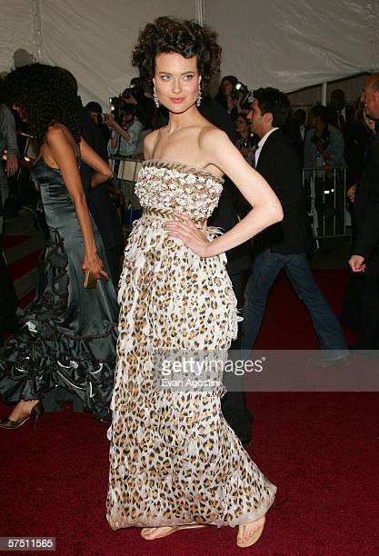Model Shalom Harlow attends the Metropolitan Museum of Art Costume Institute Benefit Gala AngloMania Tradition and Transgression in British Fashion...