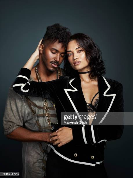 Model Shanina Shaik and DJ Ruckus are photographed for Vanity Fair Magazine on November 29 2016 at Art Basel in Miami Florida PUBLISHED IMAGE