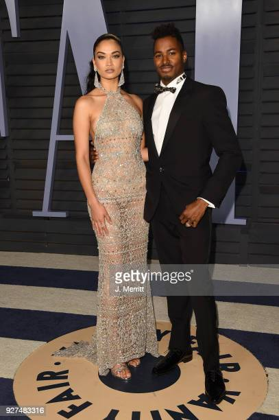 Model Shanina Shaik and DJ Ruckus attend the 2018 Vanity Fair Oscar Party hosted by Radhika Jones at the Wallis Annenberg Center for the Performing...