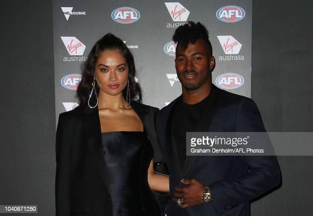 Model Shanina Shaik and husband DJ Ruckus attend the Virgin Australia AFL Grand Final Party at BOND Bar on September 26 2018 in Melbourne Australia