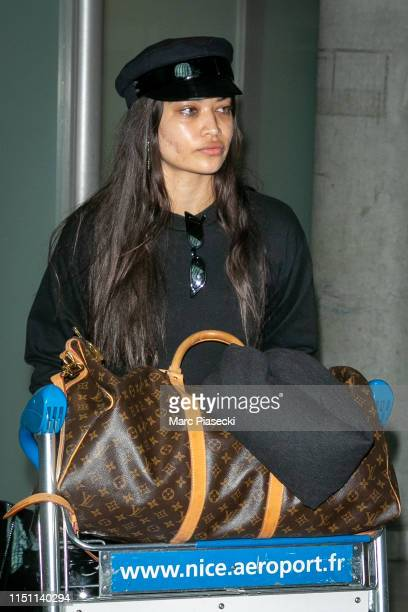 Model Shanina Shaik arrives ahead of/departs the 72nd annual Cannes Film Festival at Nice Airport on May 23 2019 in Nice France