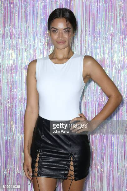 Model Shanina Shaik attends Bollare x The Cobrasnake Miami Swim Week Opening Party At The Miami Beach Edition Basement on July 20 2017 in Miami Beach...