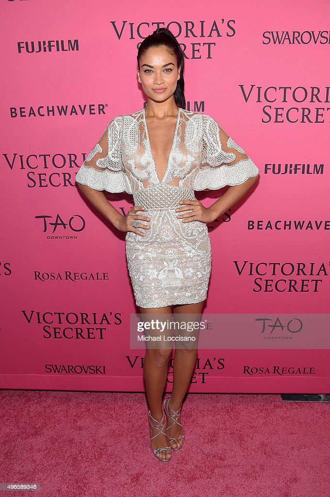Model Shanina Shaik attends the 2015 Victoria's Secret Fashion After Party at TAO Downtown on November 10, 2015 in New York City.