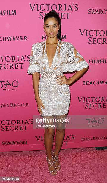 Model Shanina Shaik attends the 2015 Victoria's Secret Fashion Show after party at TAO Downtown on November 10 2015 in New York City