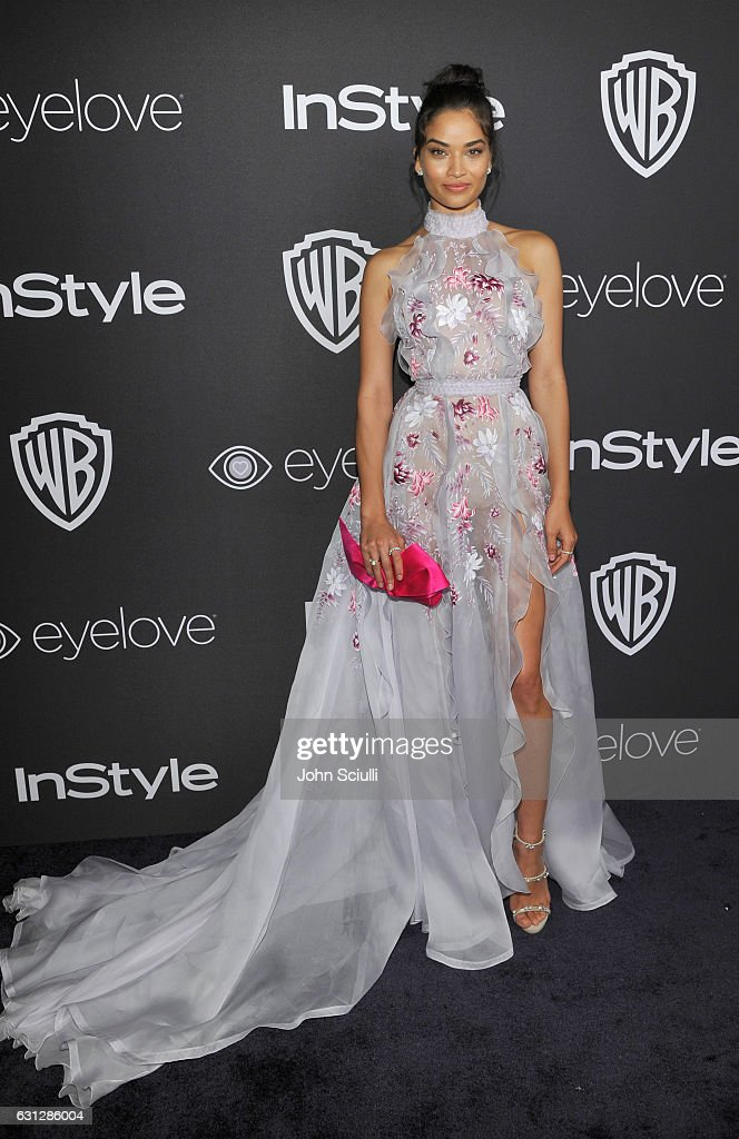 Model Shanina Shaik attends The 2017 InStyle and Warner Bros. 73rd Annual Golden Globe Awards Post-Party at The Beverly Hilton Hotel on January 8, 2017 in Beverly Hills, California.