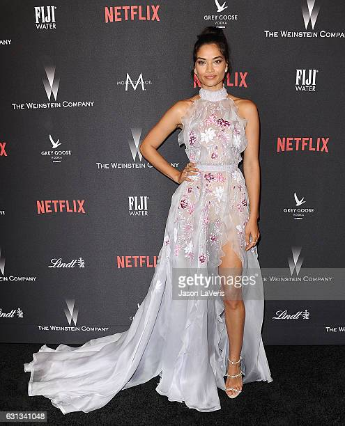 Model Shanina Shaik attends the 2017 Weinstein Company and Netflix Golden Globes after party on January 8 2017 in Los Angeles California