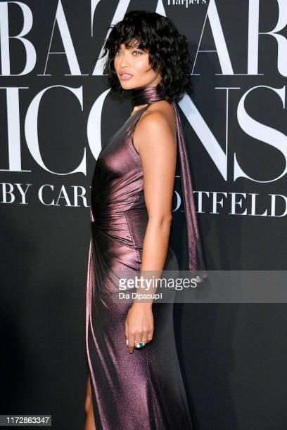 Model Shanina Shaik attends the 2019 Harper's Bazaar ICONS on September 06 2019 in New York City