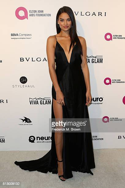 Model Shanina Shaik attends the 24th Annual Elton John AIDS Foundation's Oscar Viewing Party on February 28 2016 in West Hollywood California