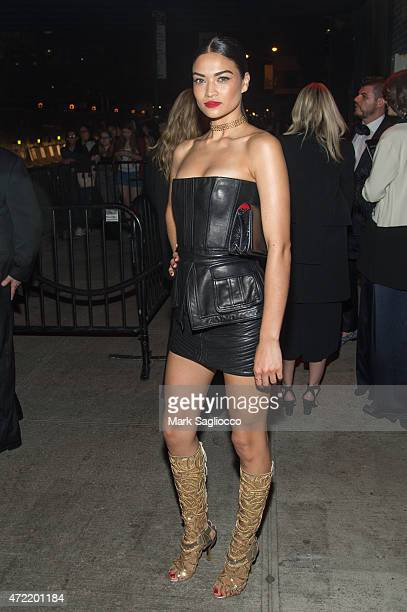 Model Shanina Shaik attends the 'China Through The Looking Glass' Costume Institute Benefit Gala After Party on May 4 2015 at The Standard Hotel in...