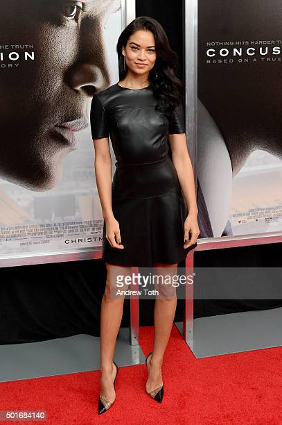 Model Shanina Shaik attends the 'Concussion' New York premiere at AMC Loews Lincoln Square on December 16 2015 in New York City